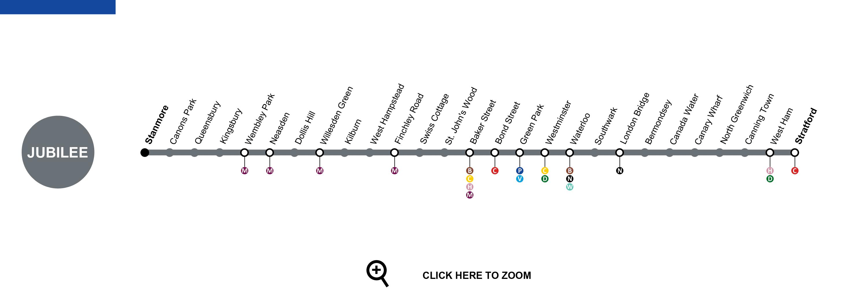 Jubilee Line Map Jubilee Line London   Map, Timetable, Service Status, Tourist Info Jubilee Line Map