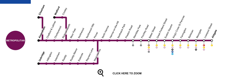 Metropolitan Line Map Metropolitan Line London   Map, Timetable, Service Status, Tourist  Metropolitan Line Map